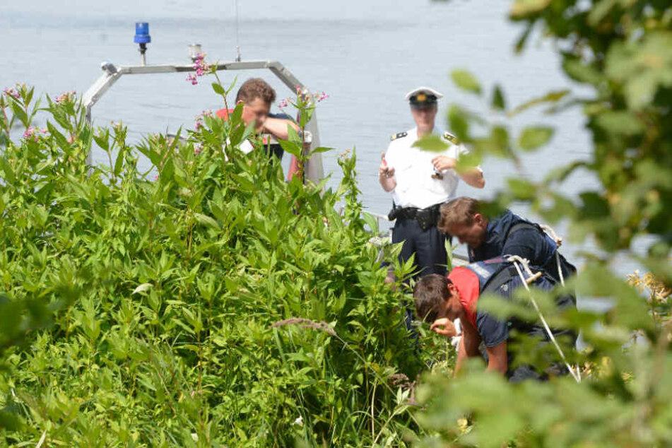 Spaziergänger macht Schock-Fund am Flussufer: Leiche treibt im Wasser!