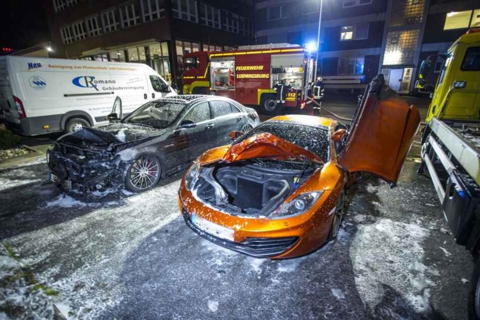 Bei den Autos handelte es sich um einen McLaren und einem Mercedes S 63 AMG.