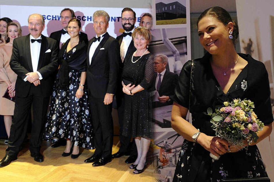 Kronprinzessin Victoria von Schweden scherzt sich durch Leipzig