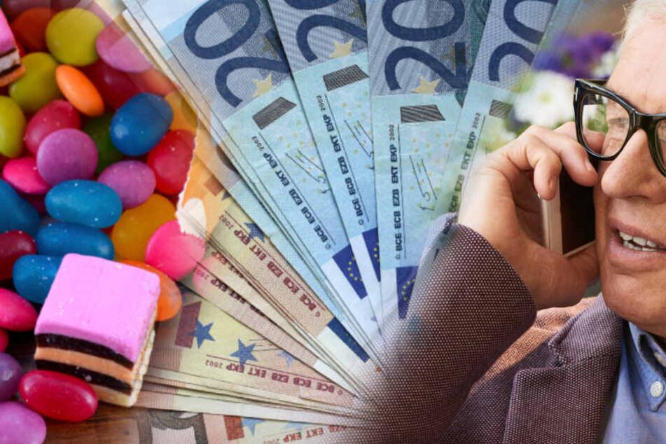 Falsche Polizisten-Bengel wollen Geld, Senior gibt ihnen Bonbons!