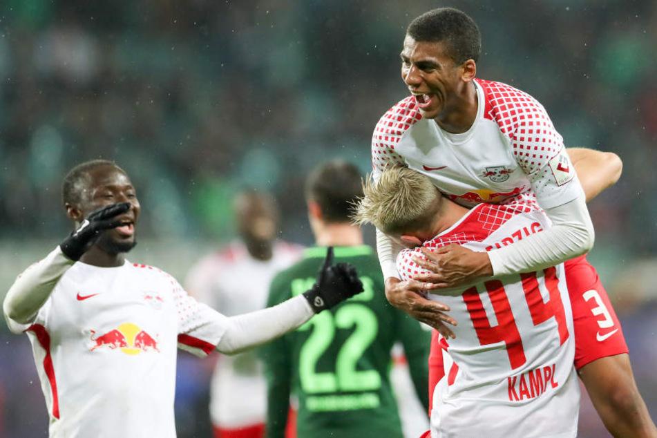 In der Hinrunde sorgten Naby Keita (l.) und Bernardo (oben) für einen 2:0-Erfolg in der Red Bull Arena.