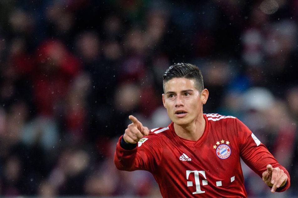 James spielte die beiden letzten Spielzeiten beim FC Bayern. Die 42 Millionen Euro, um James fest zu verpflichten, zahlte der deutsche Rekordmeister jedoch letztlich nicht.