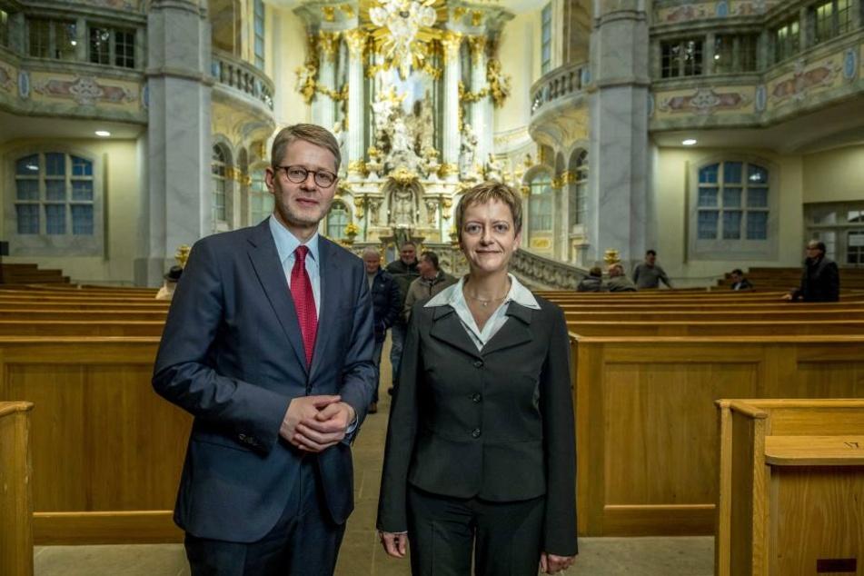 Neue Ära: Frauenkirchen-Pfarrer Sebastian Feydt (51) freut sich auf seine neue Kollegin.