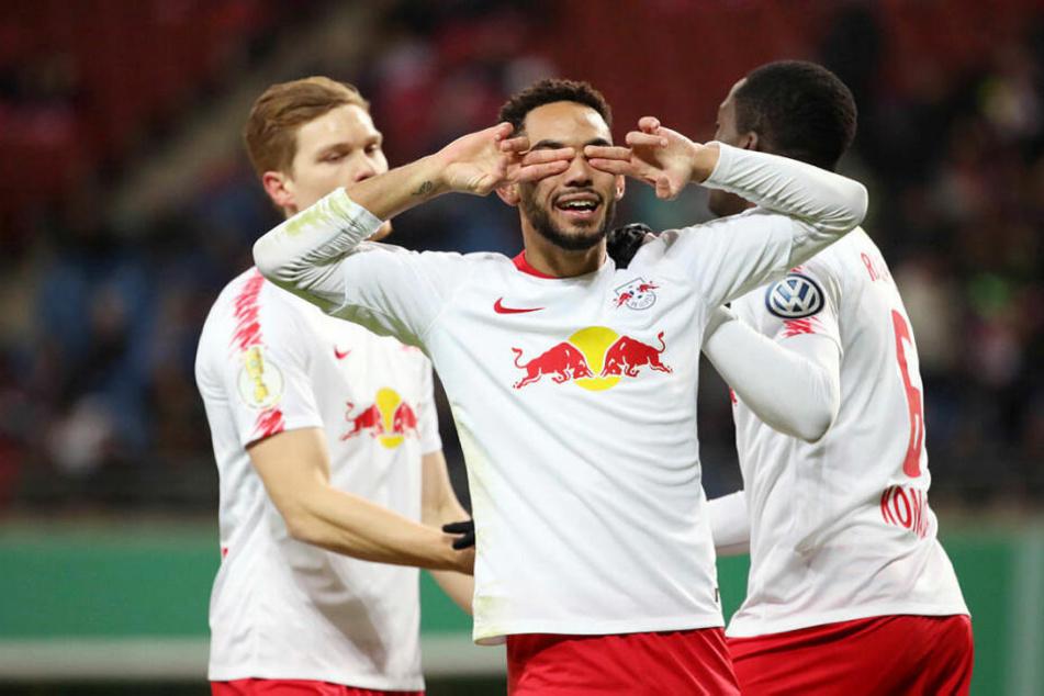 Hallo, Herr Matchwinner! Matheus Cunha schoss RB Leipzig zum 1:0-Sieg über Wolfsburg.