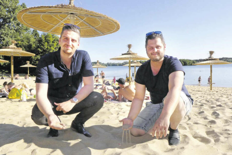 Mariano Guarro (l.) und Antonio Moro freuen sich auf Urlaubsfeeling am Lippesee.