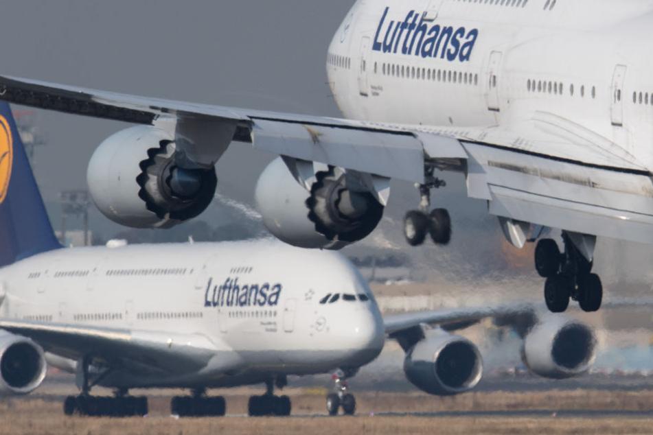 Auf der Strecke zwischen Berlin in Frankfurt wird neuerdings ein Jumbojet eingesetzt. (Symbolbild)