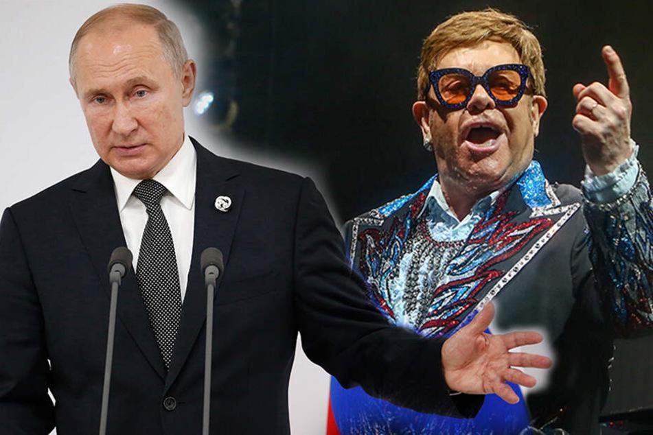 Putin gegen Popstar: Zoff mit Elton John wegen Homosexualität