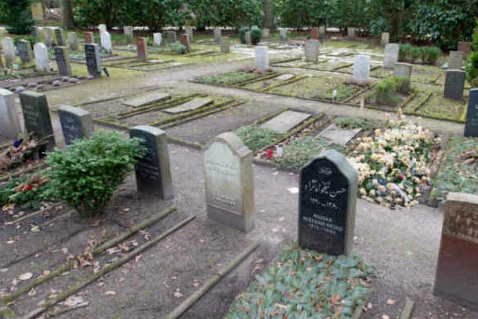 Gräber auf dem Friedhof Öjendorf in Hamburg-Billstedt.