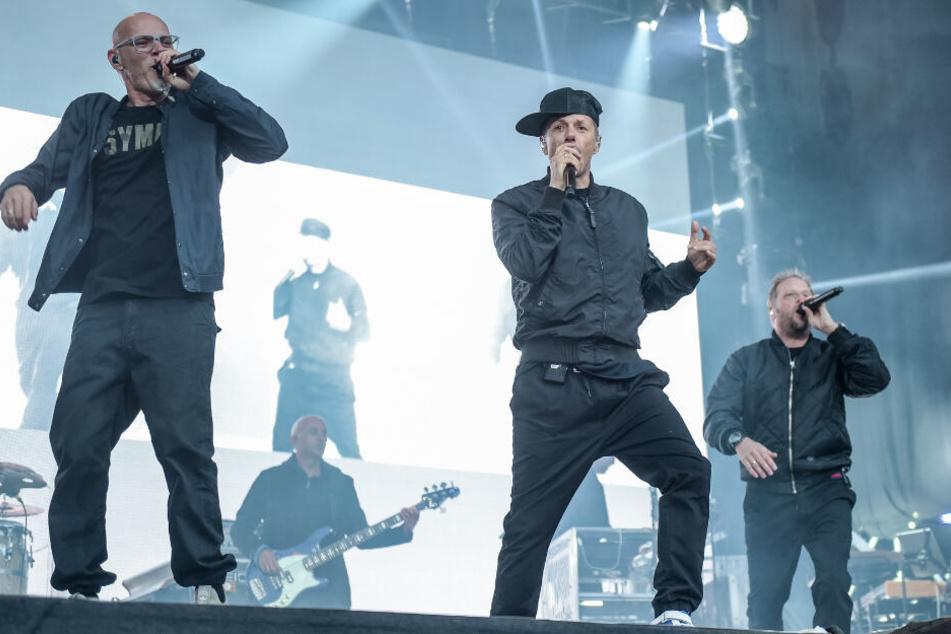Die Fantastischen Vier auf der Bühne.
