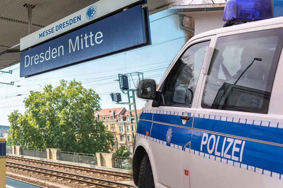 Dresden: Mann dreht am Bahnhof Mitte durch, zieht sich aus und droht mit HIV