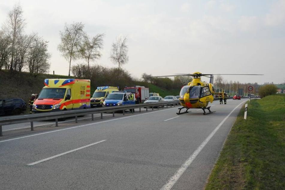 Auch ein Rettungshubschrauber kam zum Einsatz.