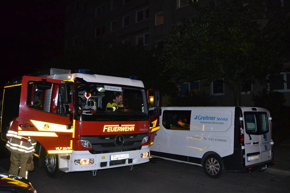 In Klotzsche brannte am Dienstagmorgen ein Kinderwagen.