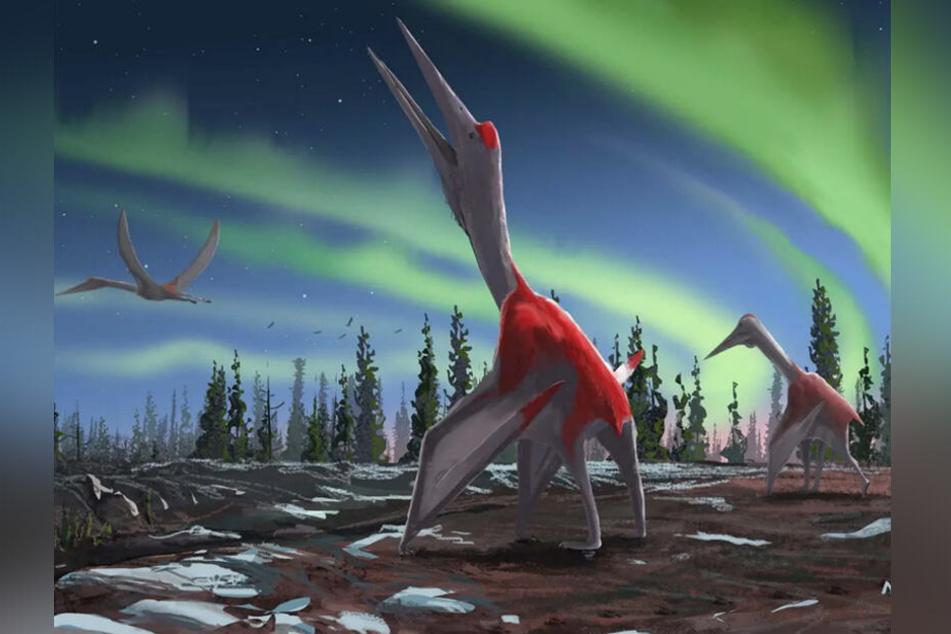 Eine künstlerische Darstellung der neu entdeckten Dinosaurier-Art.