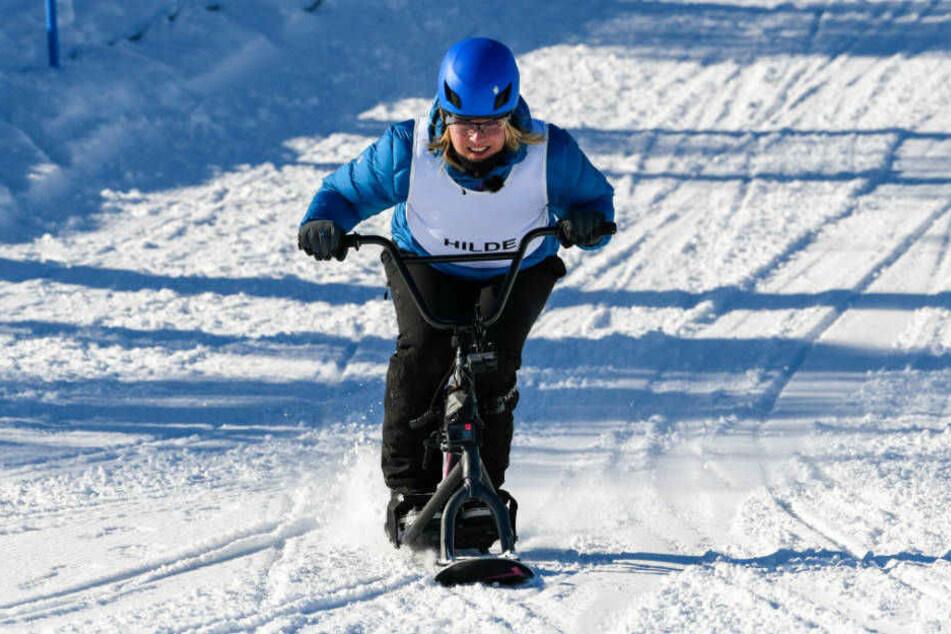 Hilde Gerg ist große Geschwindigkeiten im Schnee gewohnt.