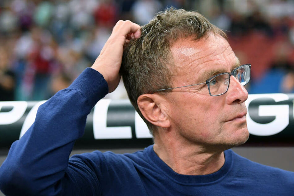 Ein Wechselbad der Gefühle für Ralf Rangnick: Das Team des Leipzig-Trainers drehte einen 0:2-Halbzeitrückstand, verlor aber am Ende noch.