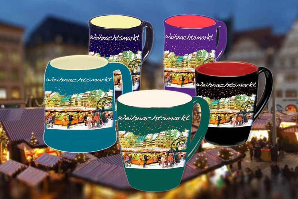 Wie soll die Weihnachtsmarkt-Tasse 2019 aussehen? Aus diesen fünf Modellen können die Besucher wählen.