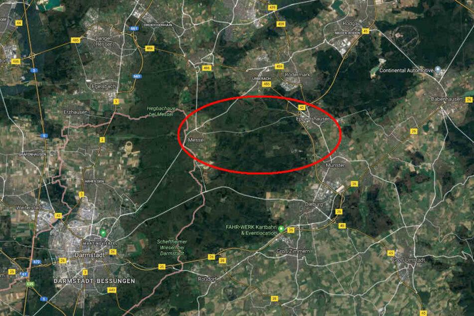 Der Unfall ereignete sich auf der Kreisstraße 180 zwischen Messel und Eppertshausen.