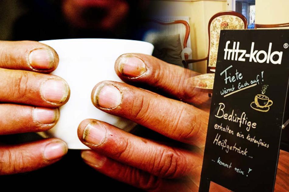Eisige Temperaturen: Dresdner Café schenkt Obdachlosen Heißgetränke