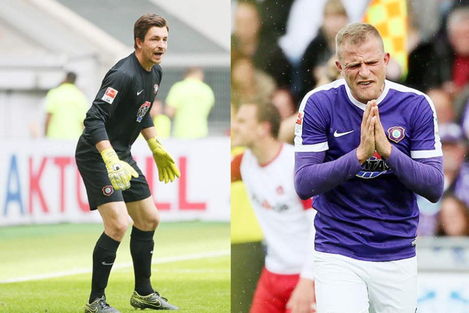 Bekommen Martin Männel (29, l.) und Nicky Adler (32) noch ein paar ältere Mitspieler?