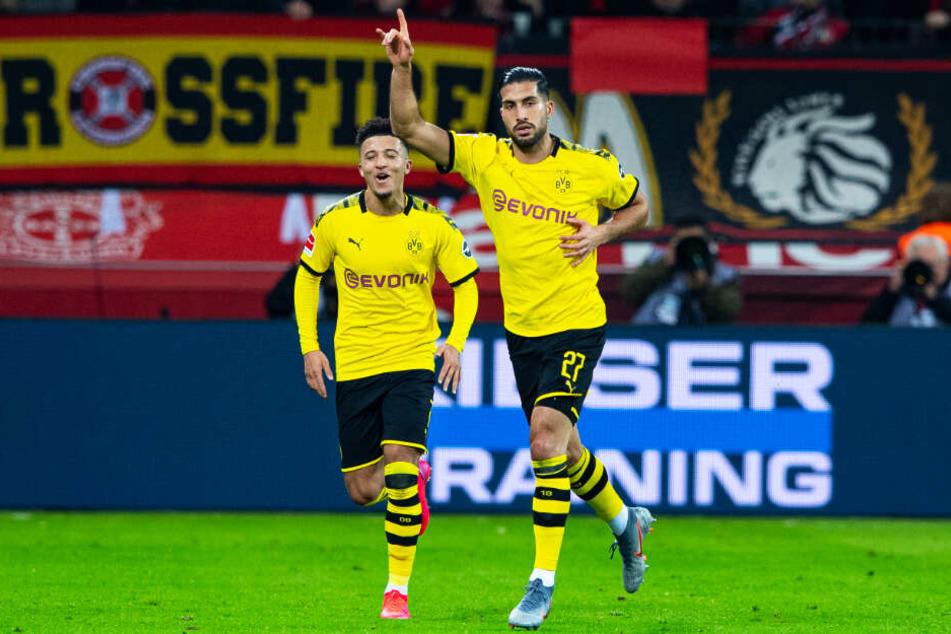 Emre Can (r.) zeigte bei seinem BVB-Startelfdebüt eine gute Leistung und krönte sie an alter Wirkungsstätte mit seinem Tor zum 2:1.