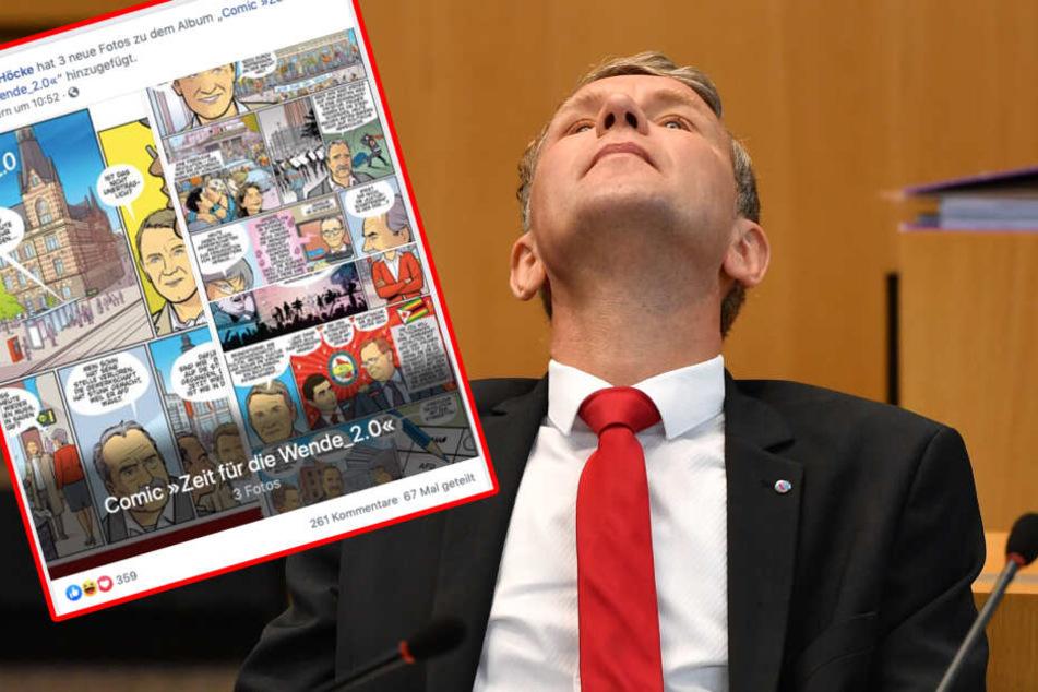Björn Höcke postet AfD-Comic und kassiert heftigen Shitstorm