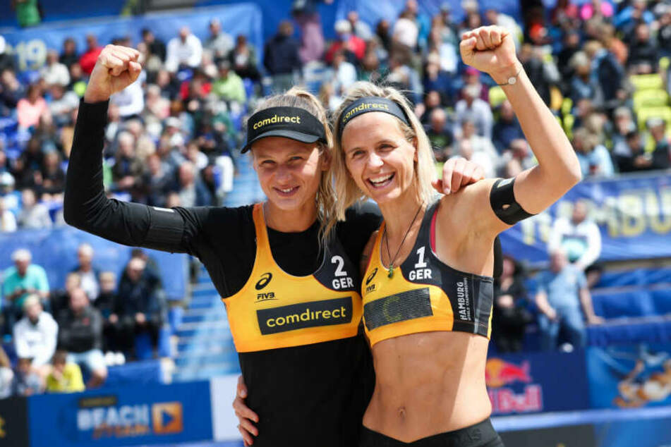 Margareta Kozuch und Laura Ludwig hatten bei der Heim-WM nur in der Vorrunde Grund zum Jubeln.
