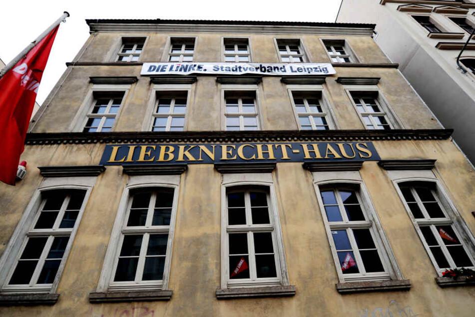 Das Büro des Leipziger Linken-Chefs in der ersten Etage des Liebknecht-Hauses in der Braustraße wurde aufgebrochen und ein Laptop samt vertraulichen Daten entwendet.