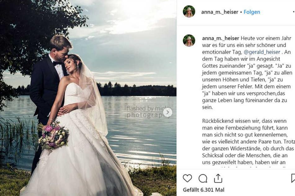 Mit diesem Posting huldigt Anna (29) ihrer Ehe mit Farmer Gerald (33).