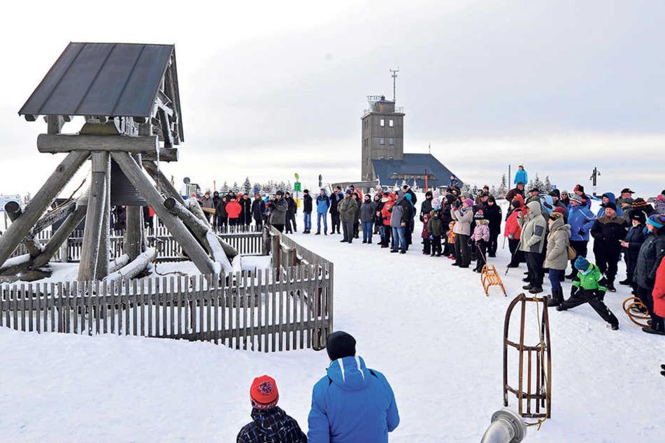 Die Wetterwarte auf dem Fichtelberg gibvt's seit mehr als 100 Jahren.