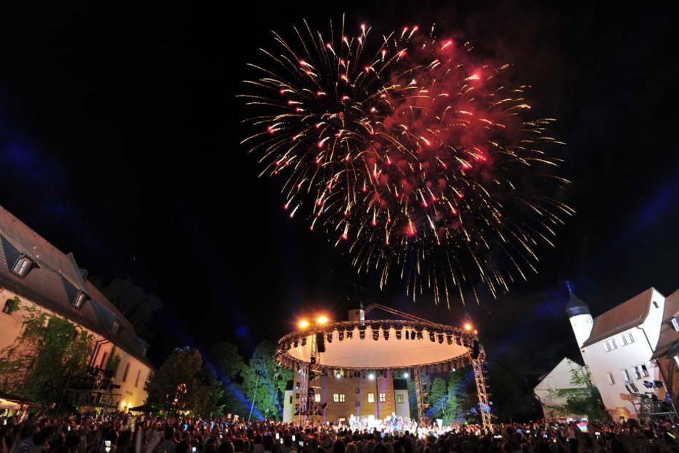 Großes Finale: Am Ende der Sendung gab es ein Mega-Feuerwerk.
