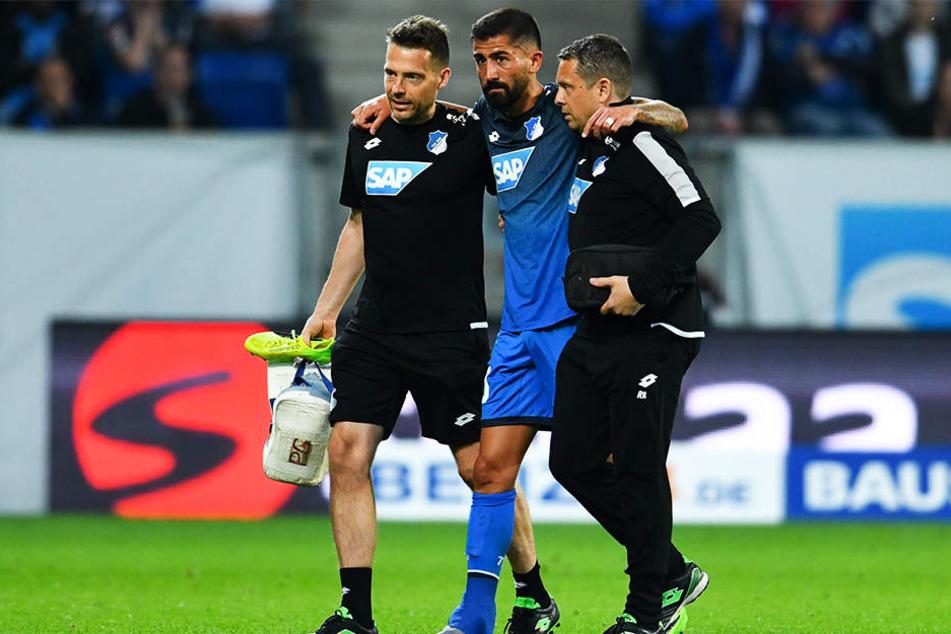 Auch Kerem Demirbay (Mitte) wird der TSG fehlen: Er zog sich eine Außenbandruptur im linken Knöchel zu.