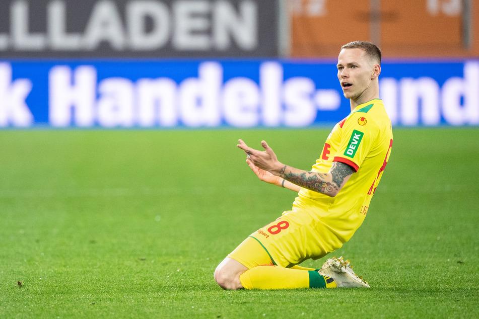 Ondrej Duda verhalf dem 1. FC Köln zur frühen Führung gegen den FC Augsburg (8.).