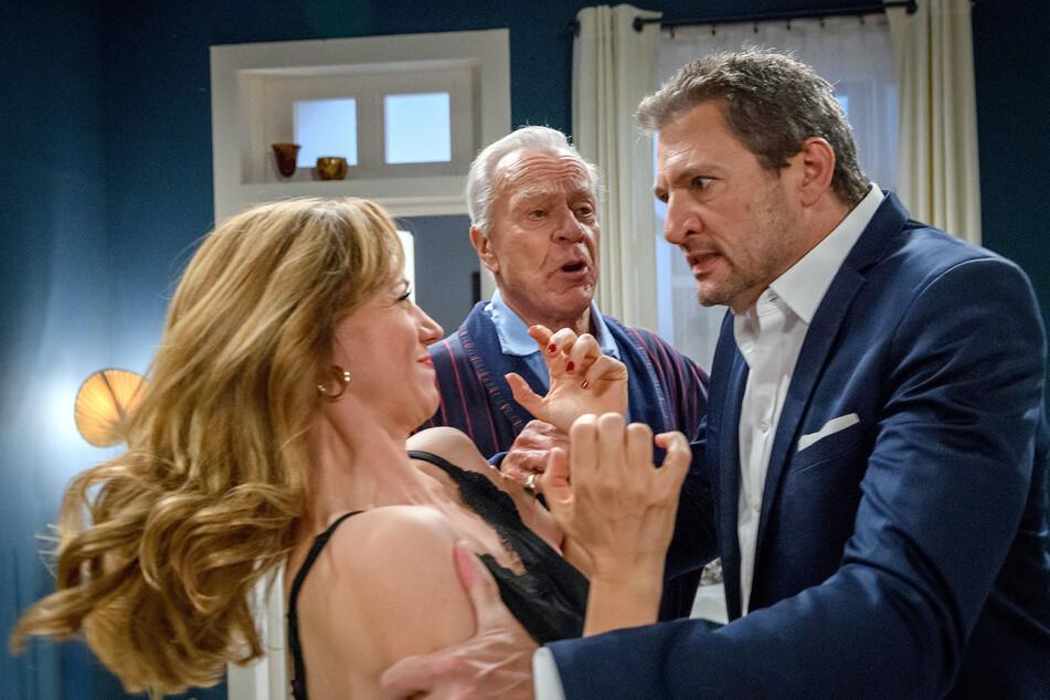 Sturm der Liebe: Ariane bietet Christoph den Kauf seiner Anteile an. Christoph will seiner Erzfeindin an den Kragen.