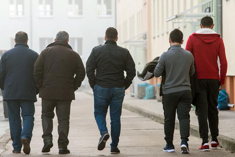 Die meisten der Befragten waren junge männliche Flüchtlinge.