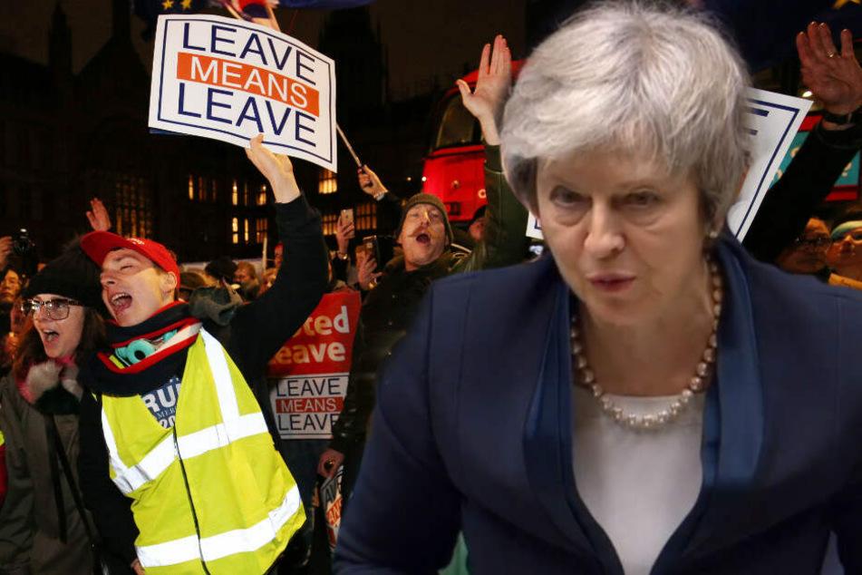 Theresa May musste vor dem Parlament eine Schlappe hinnehmen.