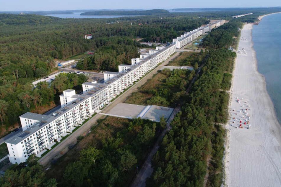 Die verbliebenen fünf Blöcke in direkter Ostsee-Strandlage haben eine Länge von 2,5 Kilometern.