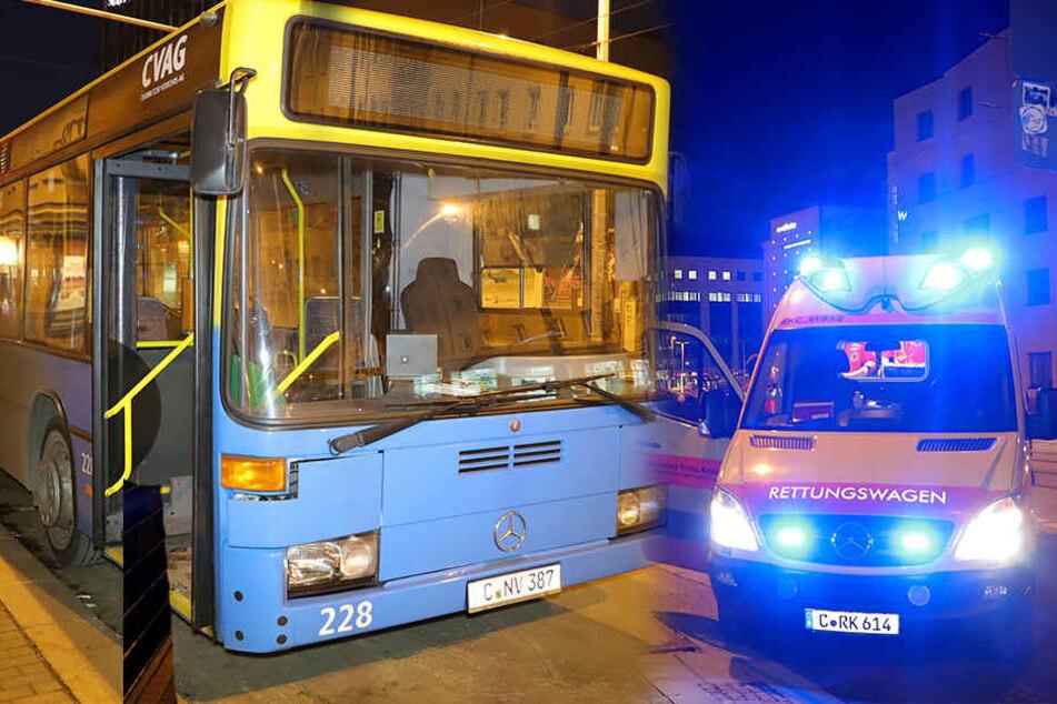 Wieder nach Notbremsung: Verletzte bei Busunfall