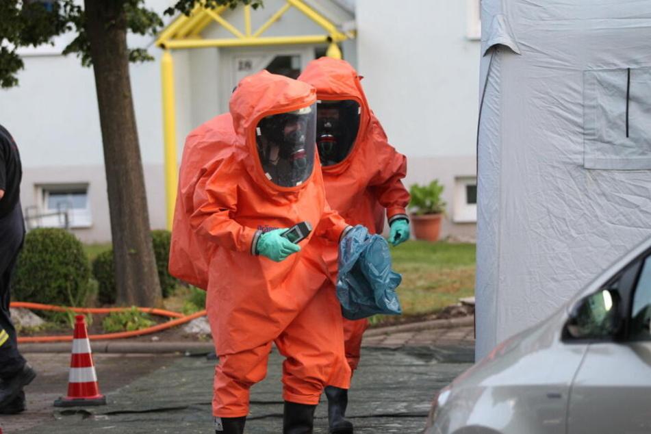 Die Substanz wurde sichergestellt und wird nun untersucht.