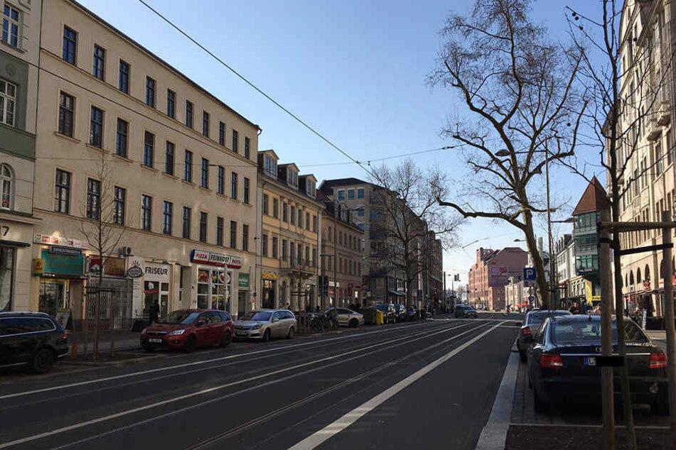 Blick auf die Karl-Liebknecht-Straße in der Leipziger Südvorstadt. Auch hier sind die Mieten  in den vergangenen Jahren spürbar gestiegen.