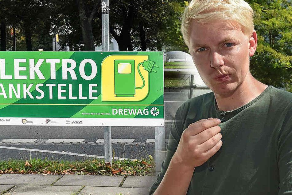 TAG-24 Redakteur Dominik Brüggemann findet, es gibt zu wenig Anreize für die Dresdner, sich ein Elektro-Auto anzuschaffen.