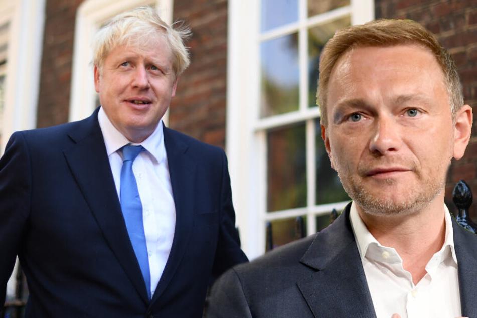 Boris Johnson wird Europa aus Sicht des FDP-Vorsitzenden Christian Lindner vor große Herausforderungen stellen. (Bildmontage)
