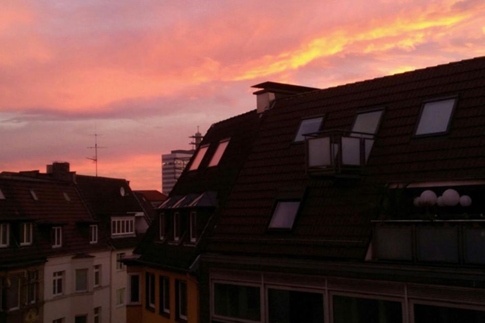 Das war der tolle Blick aus dem Redaktions-Fenster in Bielefeld.