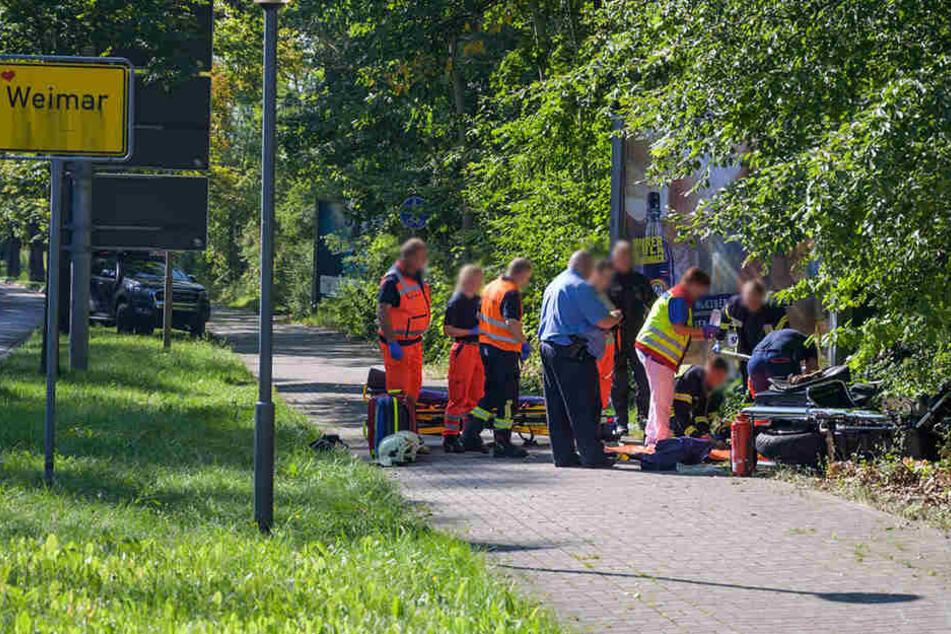 Der Schauspieler wurde bei dem Unfall schwer verletzt.