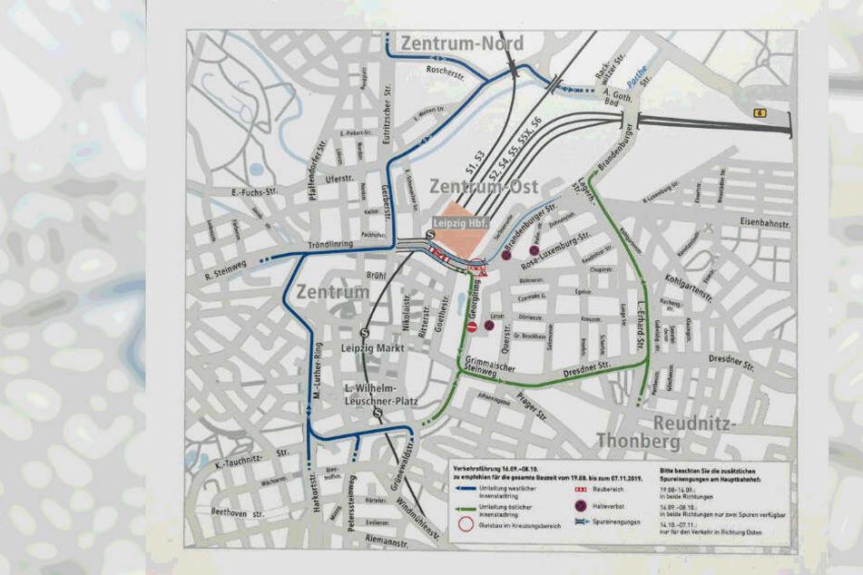 So wird der Verkehr vom 18. September bis zum 8. Oktober umgeleitet. Die Wintergartenstraße kann nicht befahren werden.