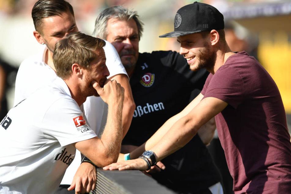 Eilers mit seinen Ex-Kollegen beim Bundeswehrkarriere Cup Dresden.