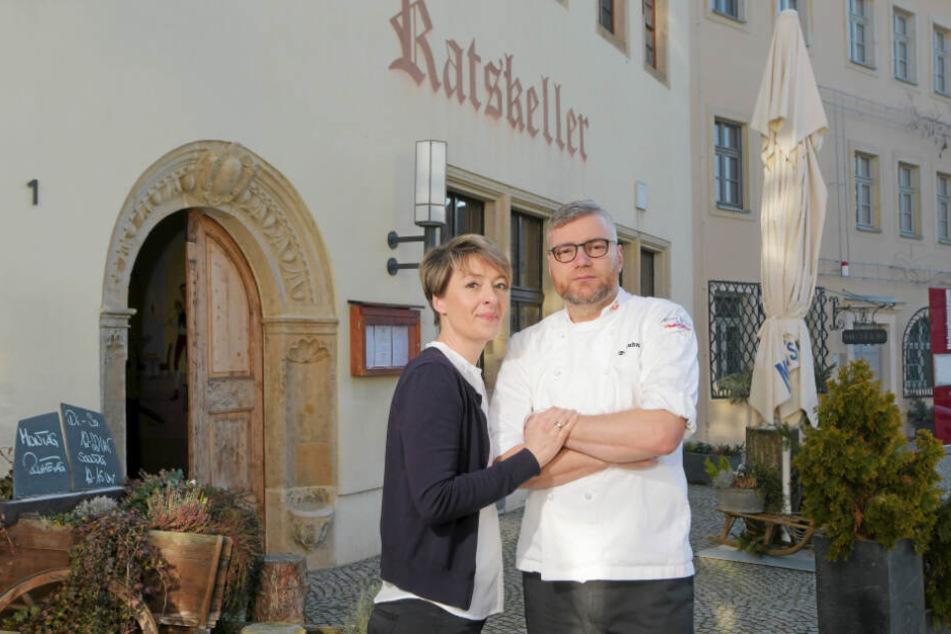 Wegen Fachkräftemangels! Jana und Daniel Lindner (beide 42) geben ihren Ratskeller in Dohna auf.