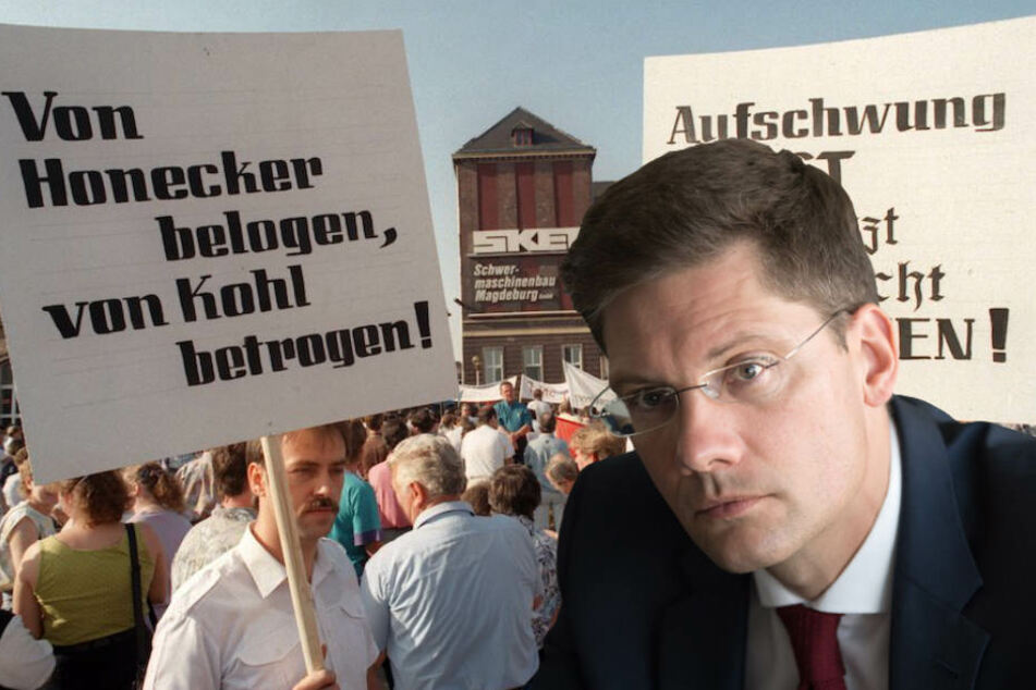 Der Ostbeauftragte der Bundesregierung, Christian Hirte (42, CDU) ist gegen eine Treuhand-Wahrheitskommission. (Bildmontage)