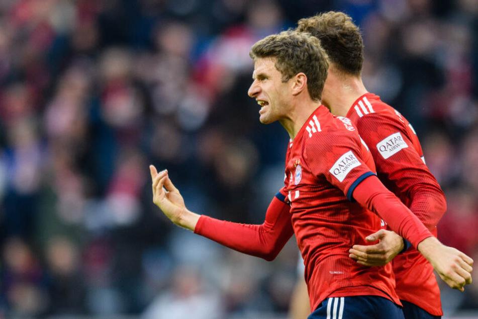 Thomas Müller erkennt die Leistung von Düsseldorf an, will sich davon aber nicht unterkriegen lassen. (Archivbild)