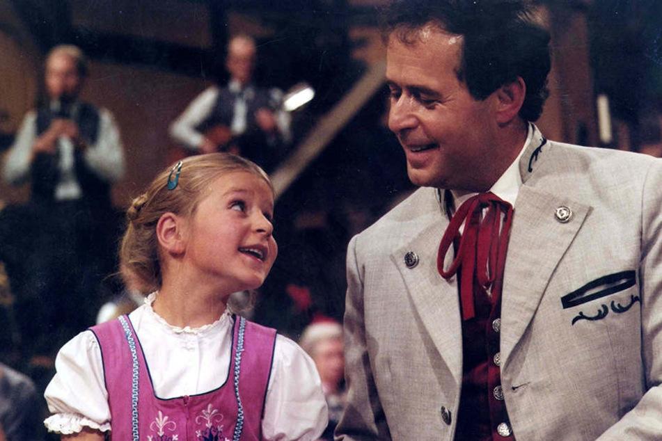 So fing das erfolgreiche Vater-Tochter-Gespann einst an: Stefanie und Eberhard bei ihrem ersten gemeinsamen Auftritt. Stefanie war damals sechs Jahre alt.