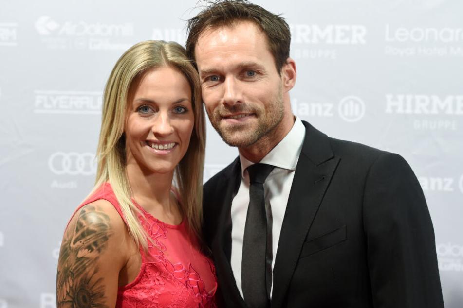 Sven Hannawald mit seiner Frau Melissa. Die beiden haben zwei Kinder.